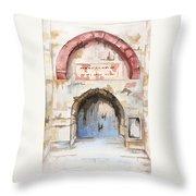 Door Series - Door 4 - Prison Of Apostle Peter Jerusalem Israel Throw Pillow