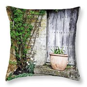 Door To The Cotswolds Throw Pillow