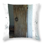 Door To The Old Lighthouse Throw Pillow