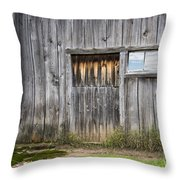Barn Door With A Window Throw Pillow