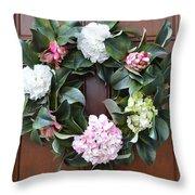 Door Wreath Throw Pillow
