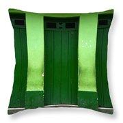 Doors And Windows Lencois Brazil 1 Throw Pillow