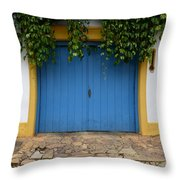 Doors And Windows Minas Gerais State Brazil 11 Throw Pillow