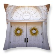 Doors Of San Francisco De Asis Throw Pillow