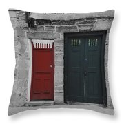 Doors Of St. Augustine Throw Pillow