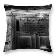 Doors Of Worship Throw Pillow