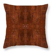 Doors Of Zanzibar Cayenne Throw Pillow
