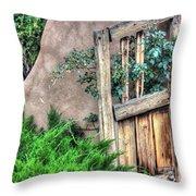 Door, Santuario De Chimayo Throw Pillow