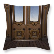 Doors To The Old West Throw Pillow