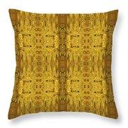 Doors Zanzibar Saffron Throw Pillow