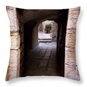Doorway In Old City Jerusalem Throw Pillow
