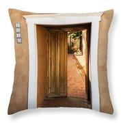 Doorway - Mesilla New Mexico Throw Pillow