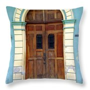 Doorway Of Nicaragua 001 Throw Pillow