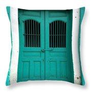 Doorway Of Nicaragua 002 Throw Pillow