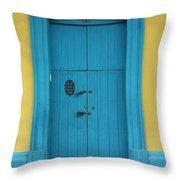 Doorway Of Nicaragua 003 Throw Pillow
