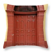Doorway Of Nicaragua 004 Throw Pillow