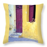 Doorway Of Nicaragua 005 Throw Pillow