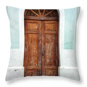 Doorway Of Nicaragua 011 Throw Pillow