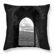 Doorway To Irish Landscape 1 Throw Pillow