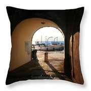 Doorway To The Sea Throw Pillow