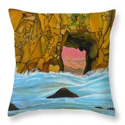 Doorway To The Sun Throw Pillow