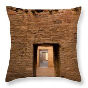 Doorways In Pueblo Bonito Throw Pillow