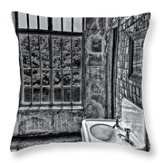 Dormer Bathroom Side View Bw Throw Pillow