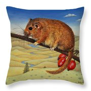 Dormouse Number Two, 1994 Throw Pillow