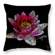 Dots Of Flowers Throw Pillow