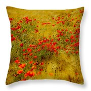 Dots Of Red Throw Pillow
