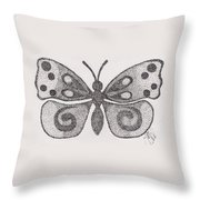 Dotted Butterfly Throw Pillow