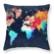 Dotted World Map 1 Throw Pillow