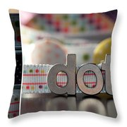 Dotty Diptych Throw Pillow
