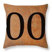 Double 0 Throw Pillow
