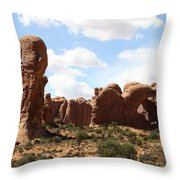 Double Arch In The Windows District Throw Pillow