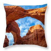 Double Arches Throw Pillow