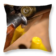 Double Barrel Shotgun Throw Pillow