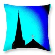 Double Crosses Throw Pillow