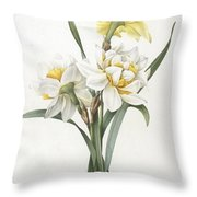 Double Daffodil Throw Pillow
