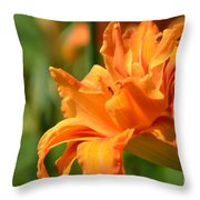 Double Daylily Throw Pillow