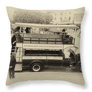 Double Decker Bus Main Street Disneyland Heirloom Throw Pillow