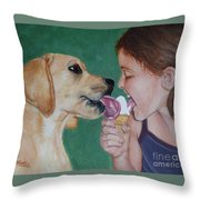 Double Dip - Ice Cream For Two Throw Pillow
