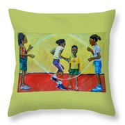 Double Dutch Throw Pillow