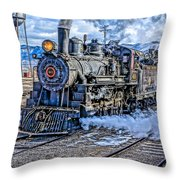 Double Header Nevada Northern Railway #1 Throw Pillow