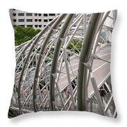 Double Helix Bridge 01 Throw Pillow