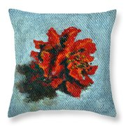 Double Hibiscus Throw Pillow