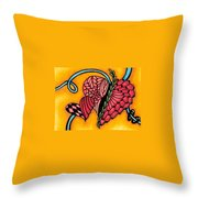 Double Ring Hearts Throw Pillow
