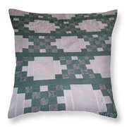Double Irish Chain Quilt Throw Pillow
