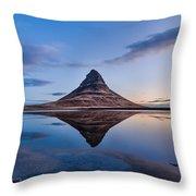 Double Kirkjufell Iceland Throw Pillow