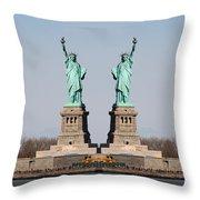 Double Libertys Throw Pillow